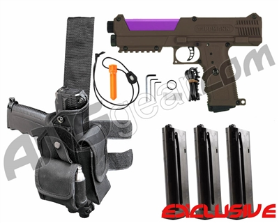 Tippmann TiPX Trufeed Deluxe Pistol Kit - Coyote Brown/Electric Purple