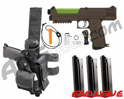 Tippmann TiPX Trufeed Deluxe Pistol Kit - Coyote Brown/Sour Apple