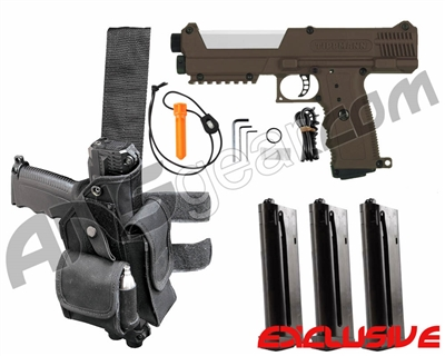 Tippmann TiPX Trufeed Deluxe Pistol Kit - Coyote Brown/Storm Trooper