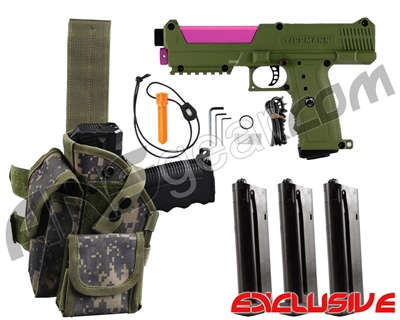 Tippmann TiPX Trufeed Deluxe Pistol Kit - Olive/Dust Pink