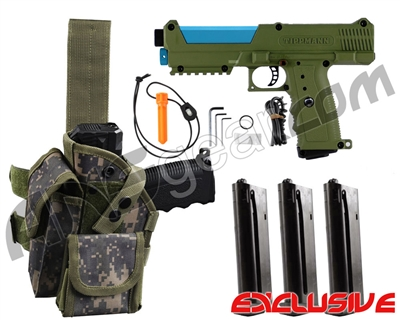 Tippmann TiPX Trufeed Deluxe Pistol Kit - Olive/Dust Teal