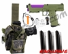Tippmann TiPX Trufeed Deluxe Pistol Kit - Olive/Electric Purple