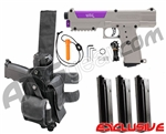 Tippmann TiPX Trufeed Deluxe Pistol Kit - Desert Tan/Electric Purple
