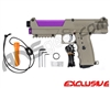 Tippmann TiPX Trufeed Paintball Pistol - Dark Earth/Electric Purple
