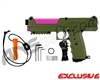 Tippmann TiPX Trufeed Paintball Pistol - Olive Green/Dust Pink