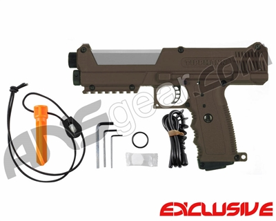 Tippmann TiPX Trufeed Paintball Pistol - Coyote Brown/Dust Silver
