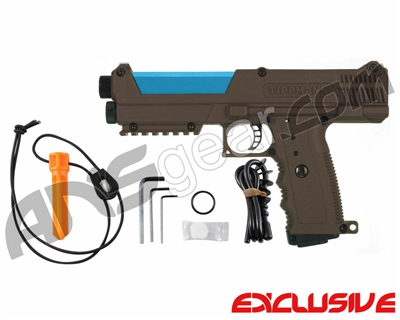 Tippmann TiPX Trufeed Paintball Pistol - Coyote Brown/Dust Teal