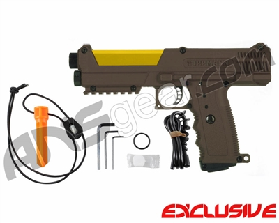 Tippmann TiPX Trufeed Paintball Pistol - Coyote Brown/Dust Yellow