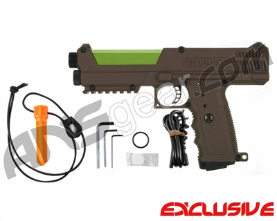 Tippmann TiPX Trufeed Paintball Pistol - Coyote Brown/Sour Apple
