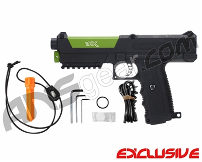 Tippmann TPX Trufeed Paintball Pistol - Black/Sour Apple