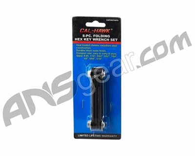 8-Pc. Folding Hex Key Wrench Set - SAE