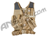 Valken Airsoft Tactical Crossdraw Vest (Youth) - Tan