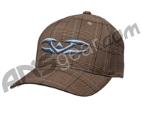 Valken Hollywood FlexFit Hat - Brown/Ice Blue