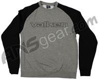 Valken Embroidered Crew Neck Sweatshirt - Grey/Black