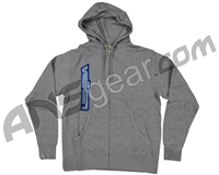 Valken Side Logo Zip Up Hooded Sweatshirt - Light Grey