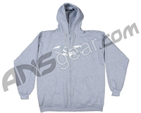 Valken V-Logo Zip-Up Hooded Sweatshirt - Heather Grey