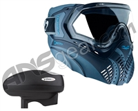 Valken Identity Mask w/ V-Max Plus Loader - Blue/Navy