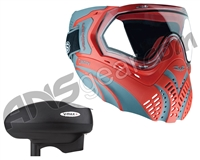 Valken Identity Mask w/ V-Max Plus Loader - Red/Grey