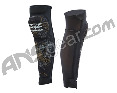 2010 Valken Paintball Knee/Shin Pads - Black