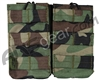 Valken Airsoft Tactical AR Double Magazine Pouch - Woodland Camo
