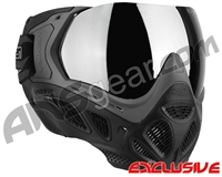 Valken Profit SC Paintball Mask - Grey/Black w/ Silver Mirror Lens