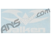 Valken Logo Sticker - White on Clear