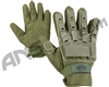 Valken V-Tac Full Finger Plastic Back Paintball Gloves - Olive