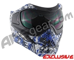 V-Force Grill Paintball Mask - Nightmare Blue