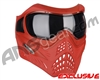 V-Force Grill Paintball Mask - SE Red/Red