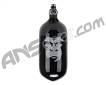 Guerrilla Air Carbon Fiber Tri Label Compressed Air Tank W/ M4.5 Regulator 70/4500 - Black