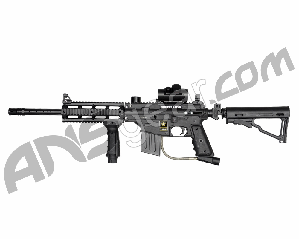 project salvo Us army project salvo 68 caliber paintball marker true milsim look paintball  marker with proven performance and reliability all aluminum receiver.