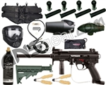 Tippmann A5 E w/ H.E. Grip, 4+1, 20 Oz Tank, GxG Mask, Remote, Stock
