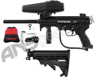 Tippmann A5 w/ Warrior Collapsible Stock