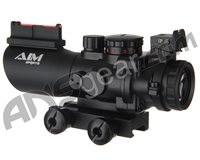 Aim Sports Recon Tactical Series 4x32mm Tri Illuminated Scope w/ Fiber Optic Sight (JTSFO432G-N)