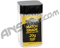 Jag Arms Match Grade .20g Airsoft BB's - 2,500 Rounds