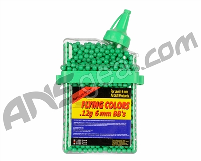 2,000-ct. Flying Colors .12g Airsoft BB's - Green