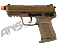 H&K HK45CT Compact Gas Blowback Airsoft Pistol - FDE