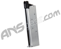 King Arms M1911 Single Stack Green Gas Airsoft Magazine - Silver