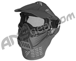 Full Coverage Tactical Airsoft Mask - Mesh Goggles - Black