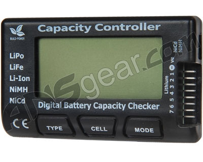 Airsoft Digital Battery Capacity Checker LiPo LiFe Li-Ion NiMH NiCd