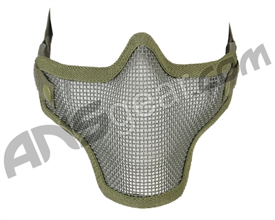 1G Strike Steel Half Airsoft Mask - OD Green