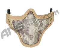 2G Strike Steel Half Airsoft Mask - Desert Camo