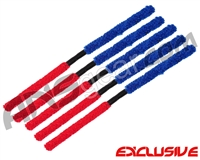 5 Pack - ANS Flex Swab Squeegees - Red/Blue