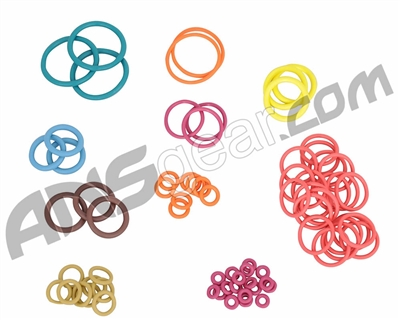 ANS Complete Colored O-Ring Kit 3x Rebuild (Bag) - Dye DM8/9/10/11