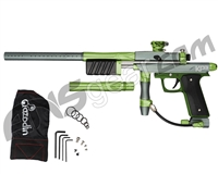 Azodin KP3 SE Kaos Pump Paintball Gun - Dust Titanium/Polished Green/Dust Green