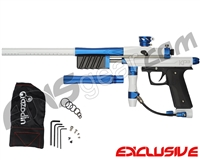 Azodin KP3 SE Kaos Pump Paintball Gun - Polished White/Dust Cobalt/Dust Black