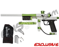 Azodin KP3 SE Kaos Pump Paintball Gun - Polished White/Dust Sour Apple/Dust Black