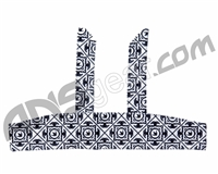 Bnkr Kings Tie Head Band - Royal White