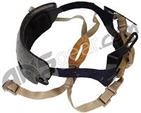 Bravo Airsoft Quick Adjustment Helmet Strap Kit - Tan