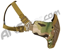Bravo Airsoft Tactical V3 Strike Metal Mesh Face Mask - Multicam